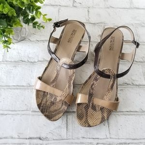 Kenneth Cole Reaction Fun Of It Snakeskin Sandals